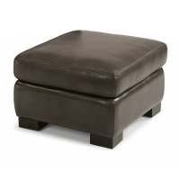 Blake Leather Ottoman Product Image