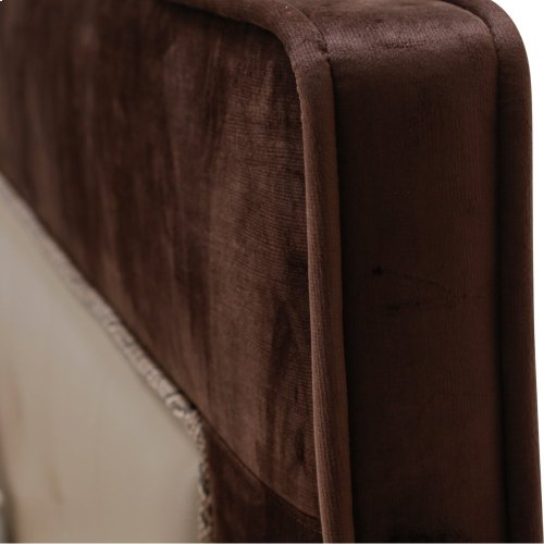 Eastern King Upholstered Tufted Bed