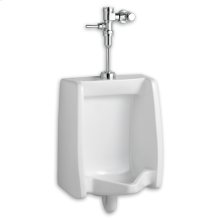 Washbrook 0.125 gpf Washout Top Spud Urinal with Manual Flush Valve System - White