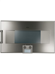 """200 series Combi-steam oven BS 260 610 Stainless steel-backed full glass door Width 30"""" (76 cm) Right-hinged Controls at the bottom"""
