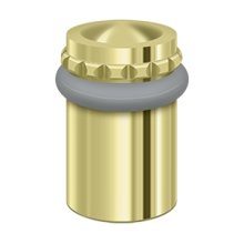 "Round Universal Floor Bumper Pattern Cap 2"", Solid Brass - Polished Brass"