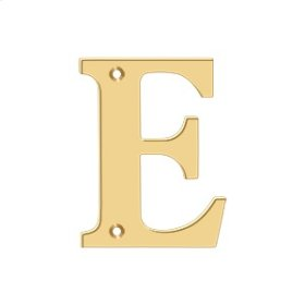 "4"" Residential Letter E - PVD Polished Brass"