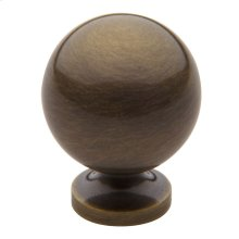 Satin Brass and Black Spherical Knob