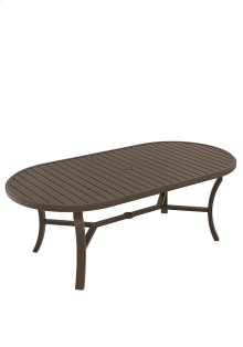 "Banchetto 84"" x 42"" Oval KD Dining Umbrella Table"