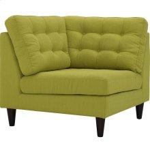 Empress Upholstered Fabric Corner Sofa in Wheatgrass