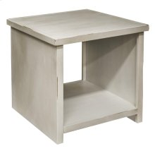 Calistoga White End Table