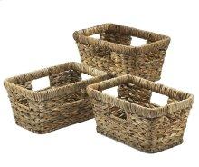 Shelf Baskets - Palm Weave Basket Set of 3