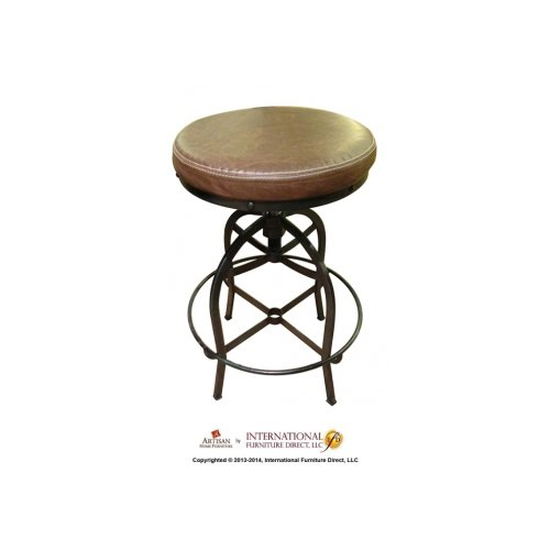 Phenomenal 24 30 Adjustable Swivel Stool With Faux Leather Seat Iron Base Onthecornerstone Fun Painted Chair Ideas Images Onthecornerstoneorg