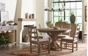 Monteverdi by Rachael Ray Complete Round to Oval Pedestal Table