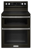 30-Inch 5 Burner Electric Double Oven Convection Range - Black Stainless Product Image