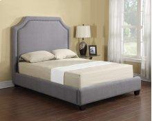 Footboard & Rails/slats 6/6 Upholstered Grey