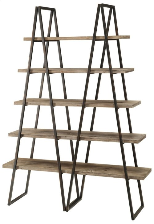 Ashland Weathered Oak Bookshelf