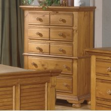 Five Drawer Chest In A Natural Finish