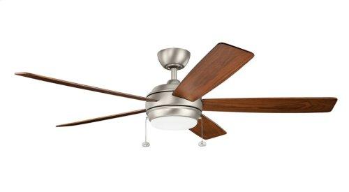 """Starkk LED 60"""" Fan Brushed Nickel"""