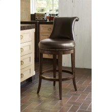 Ionic Counter Stool - Walnut w/ Brown Le