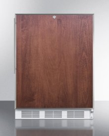 ADA Compliant Built-in Undercounter All-refrigerator for General Purpose Use, Auto Defrost W/lock, Ss Door Frame for Panel Inserts, and White Cabinet