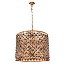 """Madison Collection Chandelier D:35.5"""" H:28"""" Lt:12 Golden Iron Finish Royal Cut Crystal (Clear)"""
