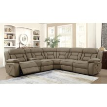 Camargue Casual Tan Motion Sectional