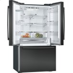 "Bosch 800 Series 36"" Freestanding Counter-Depth French Door Refrigerator, B21ct80snb, Black Stainless Steel"
