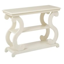 Ashland Console Table In Antique Beige Finish