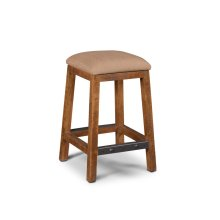 """HH-8366-024  24"""" Stool Upholstered  Backless"""