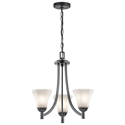 Serina Collection Serina 3 Light Chandelier in Black