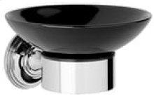 City Bronze Black ceramic soap holder