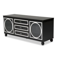 Sky Tower TV Cabinet Black Ice