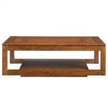 Panavista Floating Parsons Rectangular Cocktail Table in Goldenrod