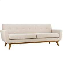 Engage Upholstered Fabric Sofa in Beige