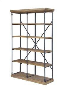 La Salle Metal and Wood Bookshelf