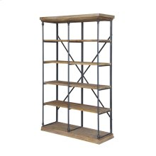 La Salle Metal and Wood Bookshelf