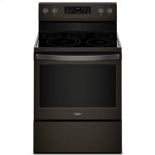 Whirlpool® 5.3 cu. ft. Freestanding Electric Range with Fan Convection Cooking - Black Stainless