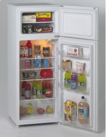7.4 CF Two Door Apartment Size Refrigerator - White