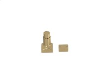 Magnetic Square Hardware In Polished Brass