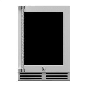 "24"" Hestan Outdoor Dual Zone Refrigerator With Wine Storage (Uv-Coated Glass Door) - Grwg Series - Steeletto"