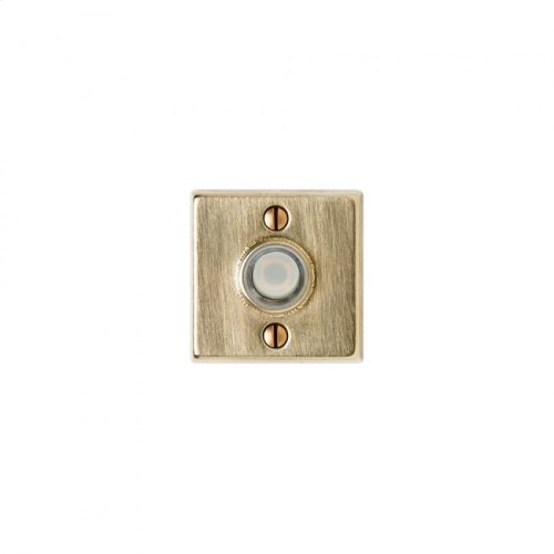 Square Metro Doorbell Button White Bronze Brushed