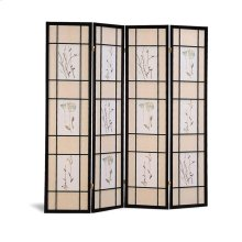 Transitional Black Folding Screen
