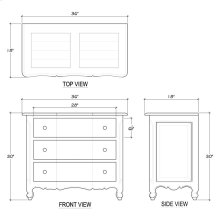 Provence 3 Drawer Dresser Medium