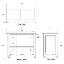 Provence 3 Drawer Dresser Medium