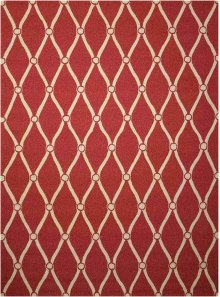 Portico Por02 Red Rectangle Rug 5' X 7'6''