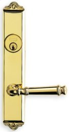 Traditional Narrow Backset Lever Lockset - Solid Brass in US15 (Satin Nickel Plated, Lacquered) Product Image