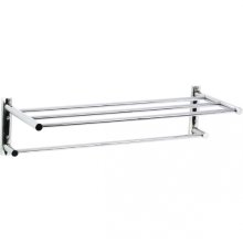 Techno - Two Tier Towel Shelf - Polished Chrome