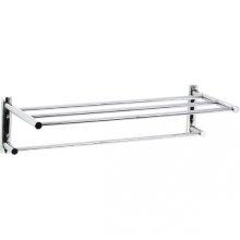 Techno - Two Tier Towel Shelf - Polished Chrome