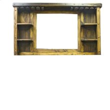 "Bar Display Cabinet W/Mirror : 75"" x 11"" x 44"" Laguna Bar with 2 pc. Bar Back and Optional Side Extension"