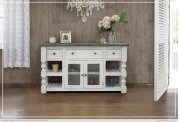 """60"""" TV Stand w/ 3 Drawer & 2 Glass Doors Product Image"""