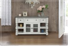 """60"""" TV Stand w/ 3 Drawer & 2 Glass Doors"""