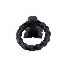Twist Ring 1 3/8 Inch w/Backplate - Patina Black