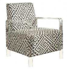 """Lavo Black and White Accent Chair - 26.5""""L x 27.5""""D x 35""""H"""