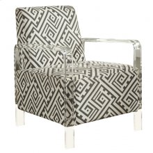 "Lavo Black and White Accent Chair - 26.5""L x 27.5""D x 35""H"